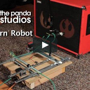 """Panda """"Intern"""" Robot"""