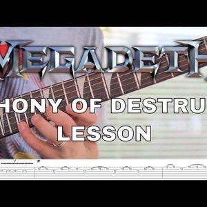 Megadeth - Symphony Of Destruction Solo Lesson & Tab