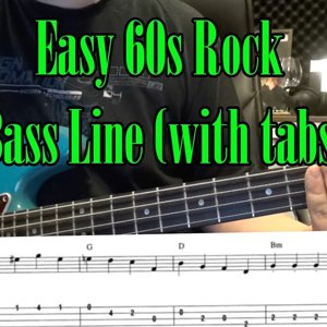Easy 60s Rock Bass Line (with tabs) #2