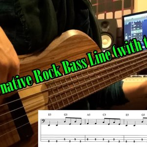 Easy Alternative Rock Bass Line (with tabs) #4