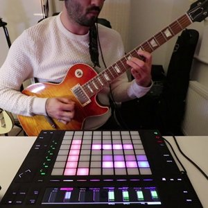➤ Muse - Hysteria - Ableton Live & Push 2 Guitar Cover #oneminutebeat #5