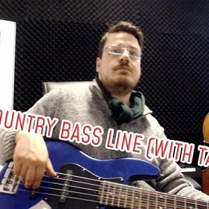 Easy Country Bass Line (with tabs) #6