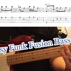 Easy Funk Fusion Bass Line (with tabs) #8 (Fender Jazz)