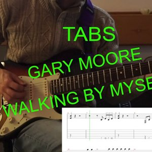 Walking By Myself - Gary Moore Guitar cover with tabs #Garymoore