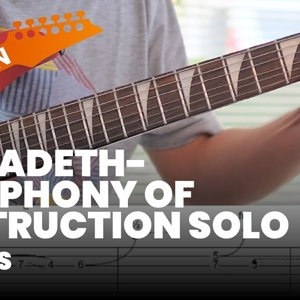 Symphony of Destruction Guitar Solo Lesson With TABS