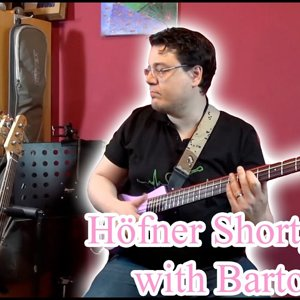 Höfner Shorty Bass with Bartolini Pickups
