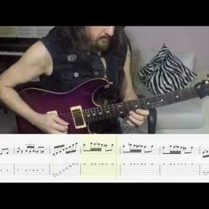 Arif DenizToker Electric Guitar Etut No:4 in D minor Tab Score Tutorial (Music by Arif DenizToker)