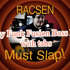 Easy Funk Fusion Bass Line (with tabs) #14 (Lakland Bass)