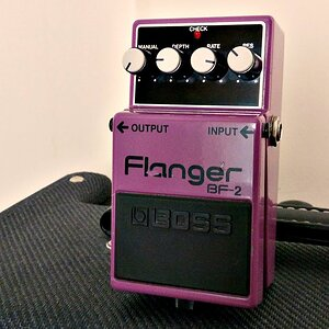 Boss BF-2 Flanger, 90's Pink Label, Made in Taiwan