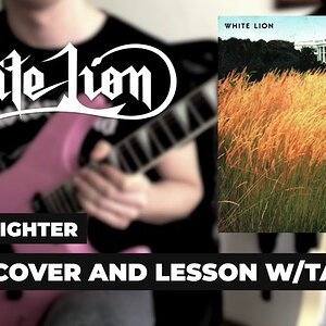 White Lion - Little Fighter Solo Cover ve Ders