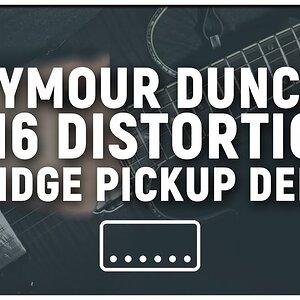 Seymour Duncan Sh6 Distortion Bridge Pickup Demo