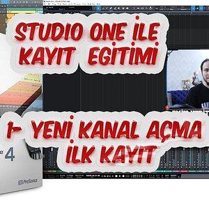 PRESONUS Studio One Dersleri - (1 Yeni Kanal Açma)💻 🎤🎸