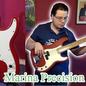 Marina Precision Bas Gitar - Dimarzio Modlu
