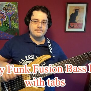 Easy Funk Fusion Bass Line (with tabs) #16