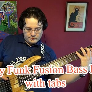 Easy Funk Fusion Bass Line (with tabs) #17