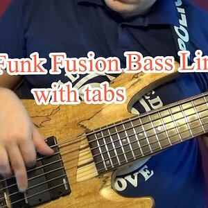 Easy Funk Fusion Bass Line (with tabs) #18