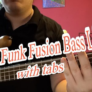 Easy Funk Fusion Bass Line (with tabs) #19