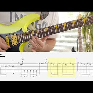 Paul Gilbert - Scarified Lesson With Bigger Tabs