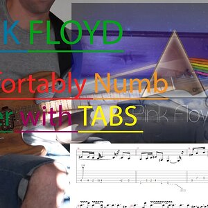 Pink Floyd Comfortably Numb Pulse Solo with tabs and Hx stomp and Charvel Guthrie Govan