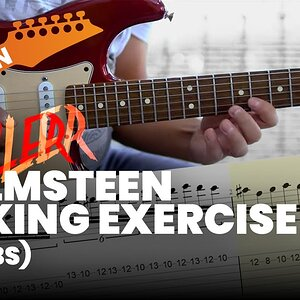 Killer Malmsteen Speed Picking Exercise with Tabs