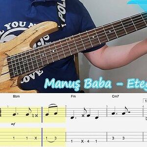 Manuş Baba - Eteği Belinde Bas Gitar Tab - Akor