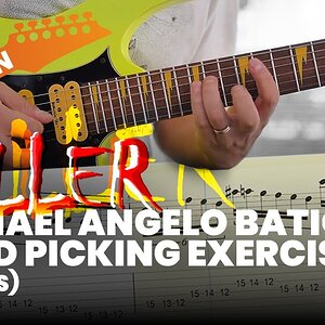 Killer Michael Angelo Batio Speed Picking Exercise With Tabs