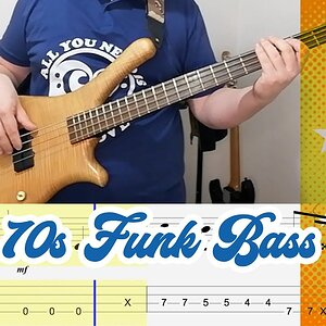 70s Funk Bass Lick (with TABS) #4