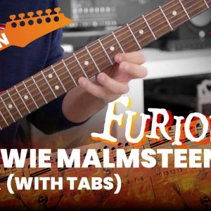 Furious Yngwie Malmsteen Lick with Tabs (More is more:))