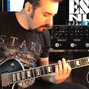 ESP E-II Eclipse BB & NUX Cerberus - Riffs & Sound Test (Room)