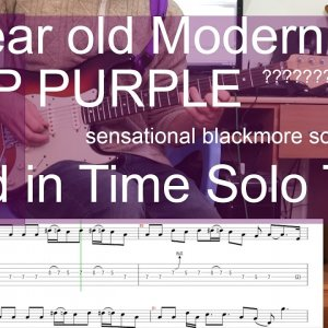 Deep Purple Child in Time Guitar solo cover with tabs #legendritchieblackmore