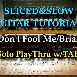 YOU DONT FOOL ME - (Brian May) guitar solo play through with tablature